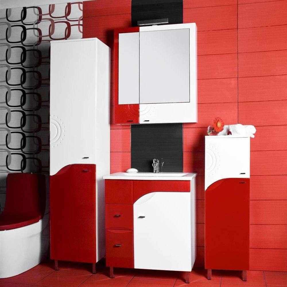 стильные красно-белые шкафы